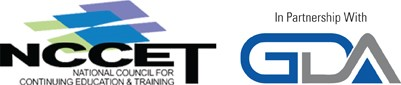 NCCET logo In partnership with GDA logo